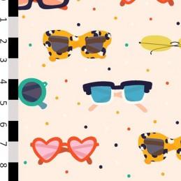 100% Cotton Digital Fabric Sunnies Sunglasses Holidays 150cm Wide