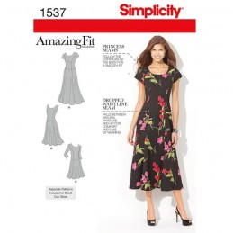 Misses' and Plus Size Amazing Fit Dress Fabric Sewing Pattern 1537