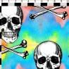 100% Cotton Digital Fabric Skulls And Crossbones 150cm Wide