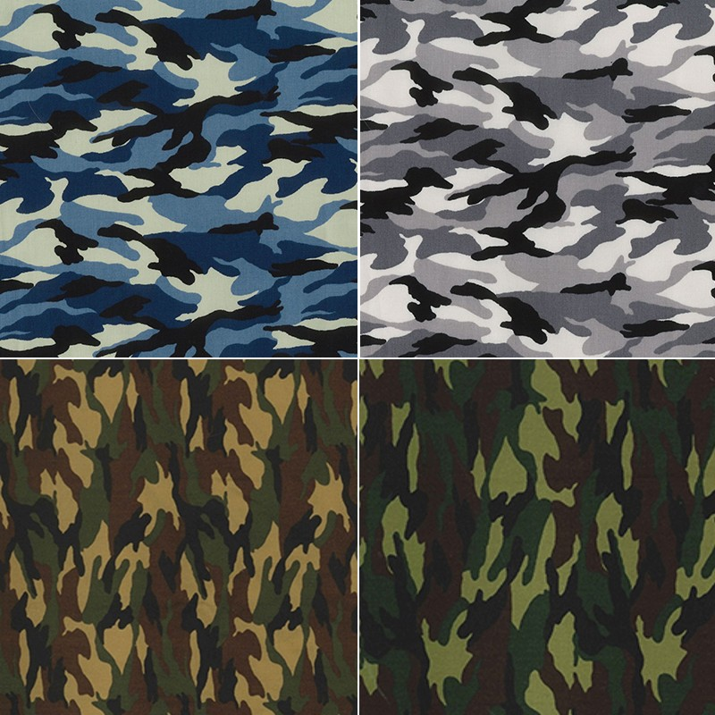 Jungle 100% Cotton Poplin Fabric Rose & Hubble Army Camouflage Military Jungle Woodland
