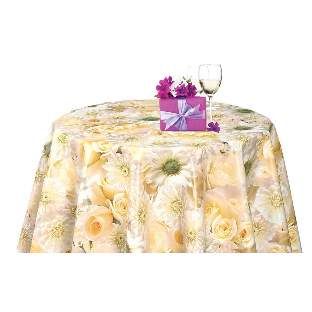 PVC Vinyl Tablecloth White...