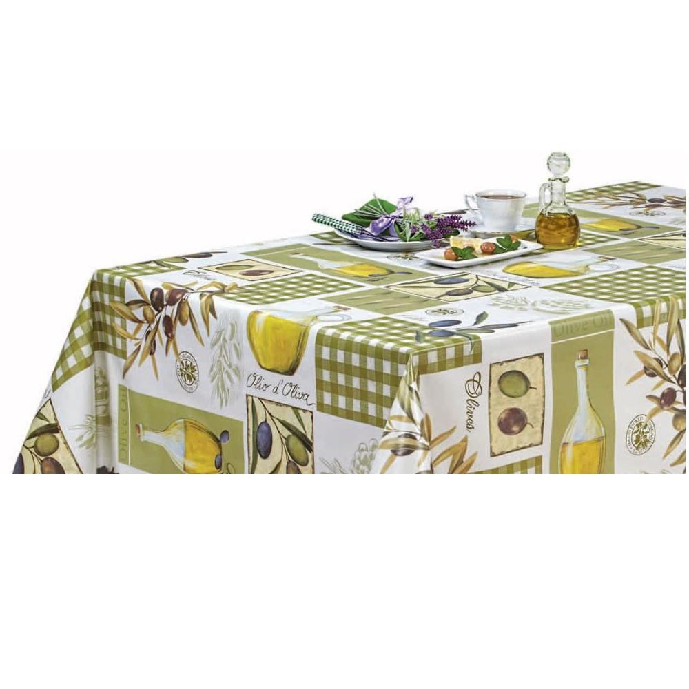 PVC Vinyl Tablecloth Olives...
