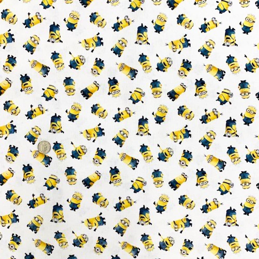 100% Cotton Digital Fabric Minions Despicable Me Dreamworks Novelty 150cm Wide