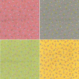 100% Cotton Poplin Fabric Rose & Hubble Mills Grove Ditsy Floral Butterfly