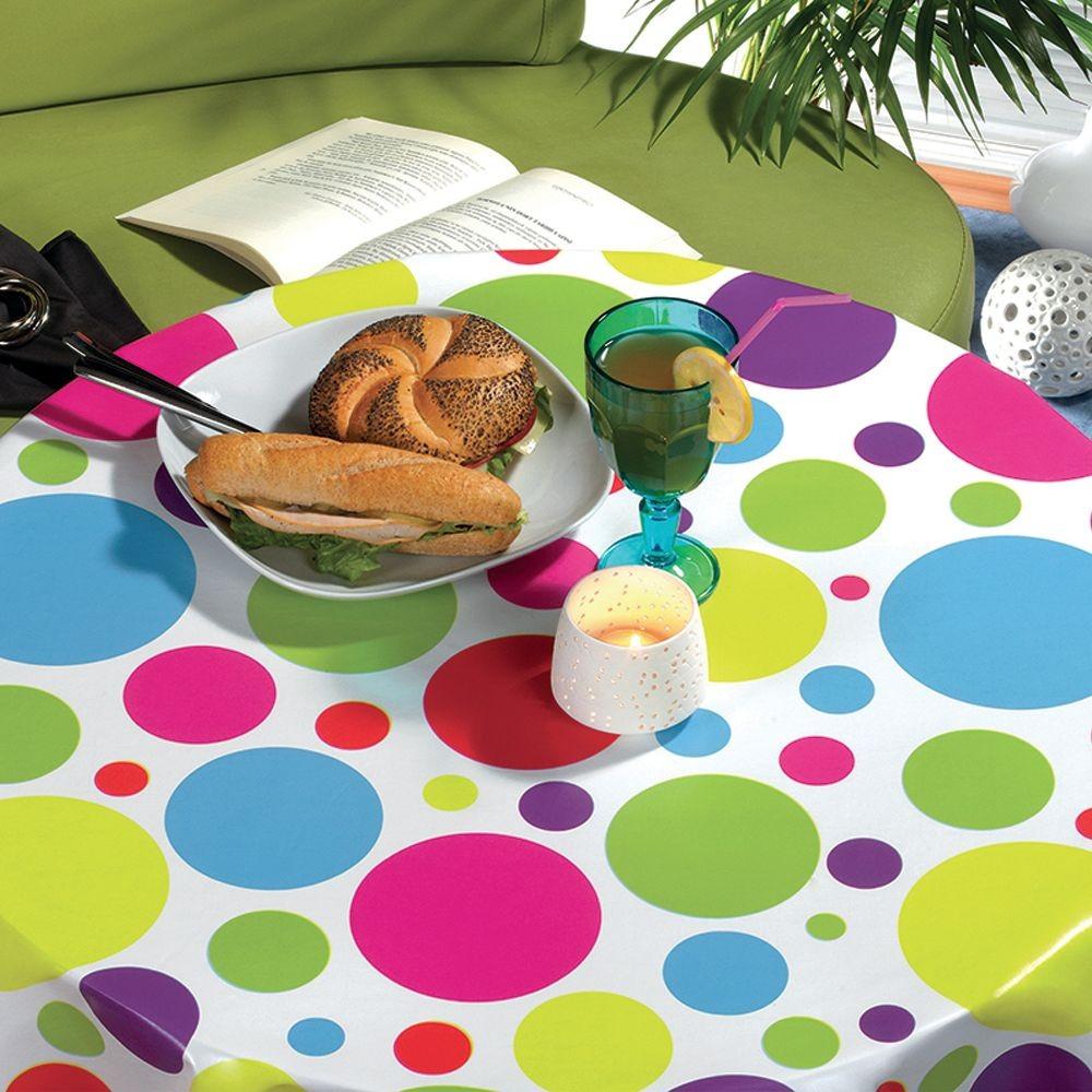 PVC Vinyl Tablecloth Multi...