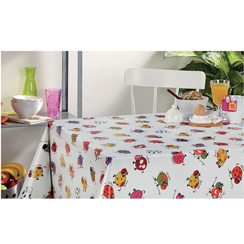 PVC Vinyl Tablecloth Moo...