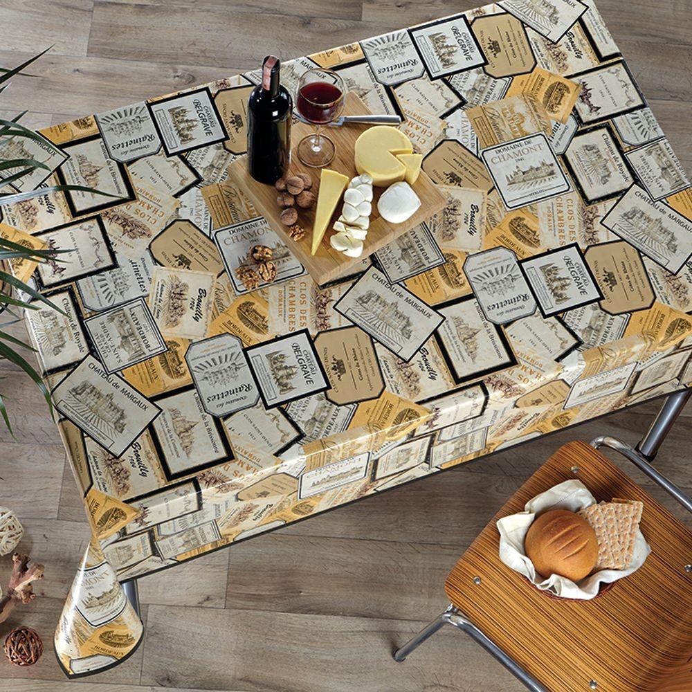 PVC Vinyl Tablecloth Wine...