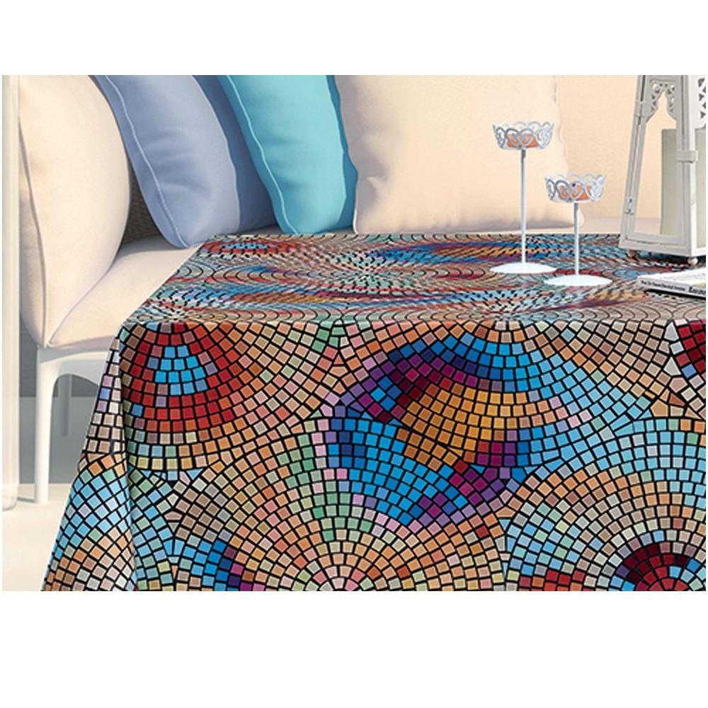 PVC Vinyl Tablecloth Mosaic...
