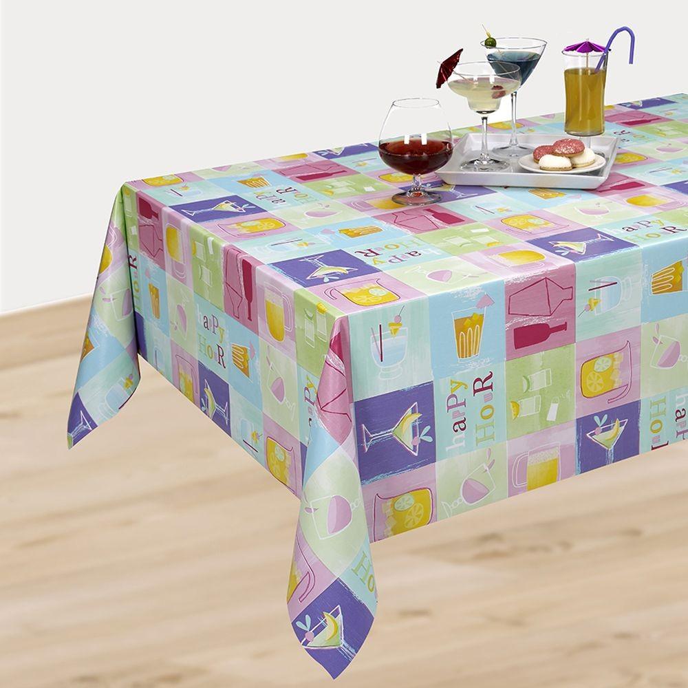 PVC Vinyl Tablecloth Happy...
