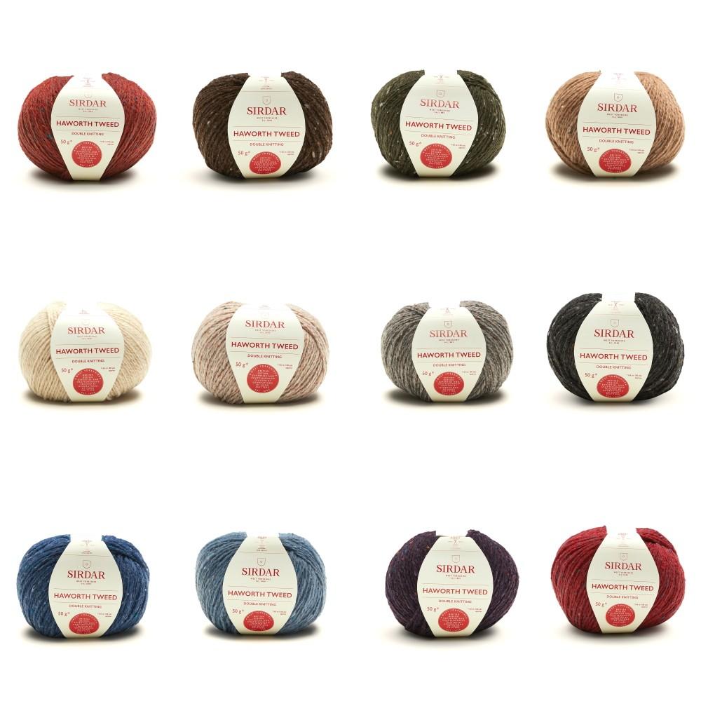 Sirdar 50g Haworth Tweed DK Merino Nylon Knitting Crochet Yarn Ball Wool 901 Hepworth Slate