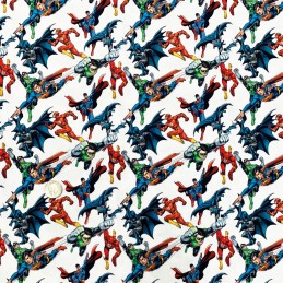 100% Cotton Digital Fabric Superman Batman Flash Justice League Hero 150cm Wide