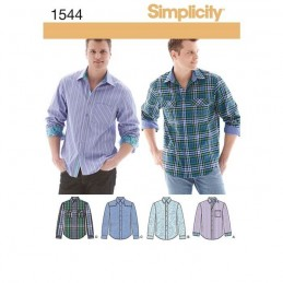 Mens Shirt With Fabric Variations Fabric Sewing Patterns 1544