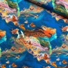 100% Cotton Fabric Spirit Of Flight Mystical Butterflies Birds Fantasy Feathers