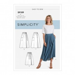 Simplicity Sewing Pattern S9109 Misses' Wrap Skirts