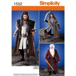 Mens Medieval Tunic, Cloak And Accessories Fabric Sewing Patterns 1552