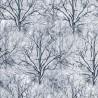 100% Cotton Fabric Timeless Treasures Winter Trees Scene Snow Ice Festive