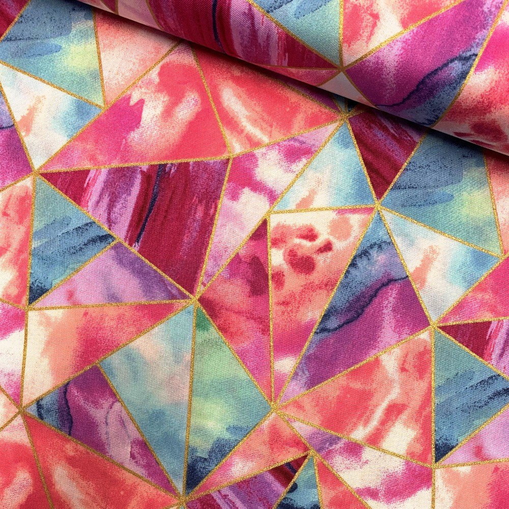 100% Cotton Fabric Glitter...