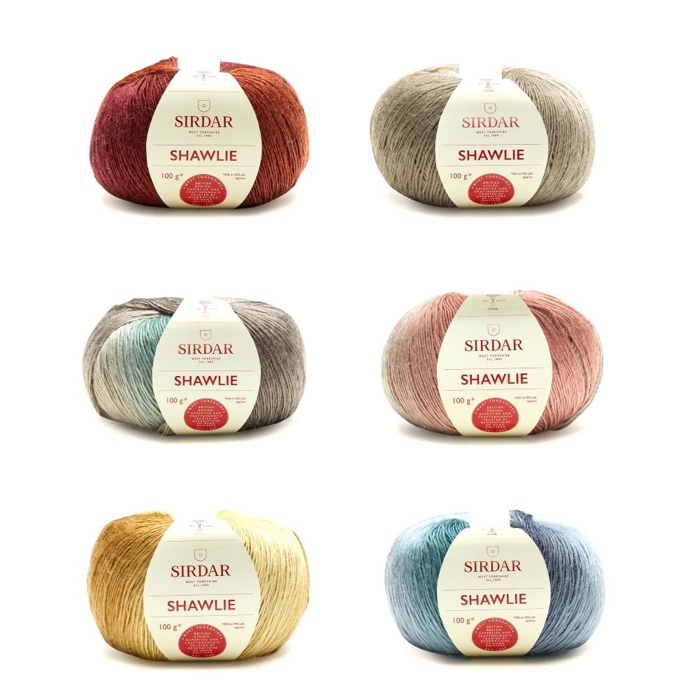 Sirdar 100g Shawlie Self Striping Sport Weight Knitting Crochet Yarn Ball Wool Tea Rose