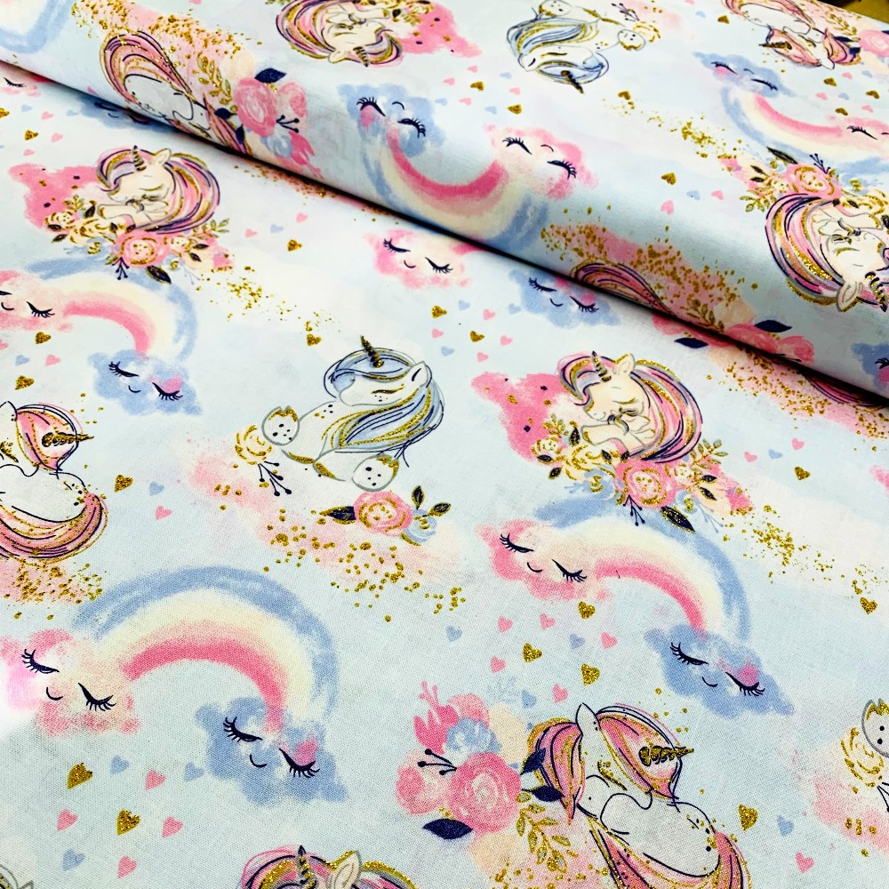 100% Cotton Fabric Glitter...