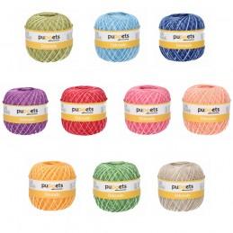 Puppets Eldorado No.12 Variegated 100% Cotton Crochet Knit Yarn Thread 50g Ball
