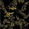 100% Cotton Fabric Timeless Treasures Metallic Musical Score Symbols Notes