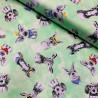 100% Cotton Fabric Fancy Farm Heads Animals Hats Scarf Glasses Pig Alpaca Dog