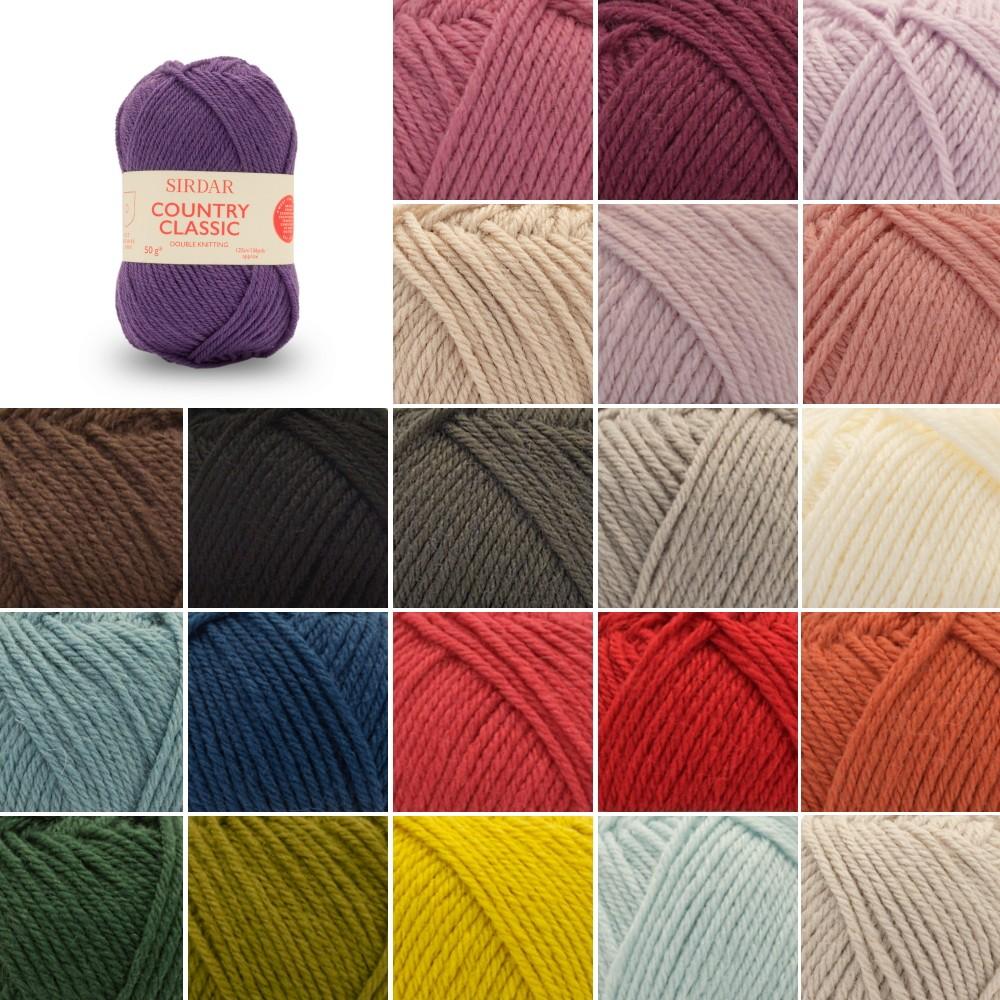 Sirdar 50g Country Classic DK Double Knitting Crochet Yarn Ball Wool Acrylic 850 White
