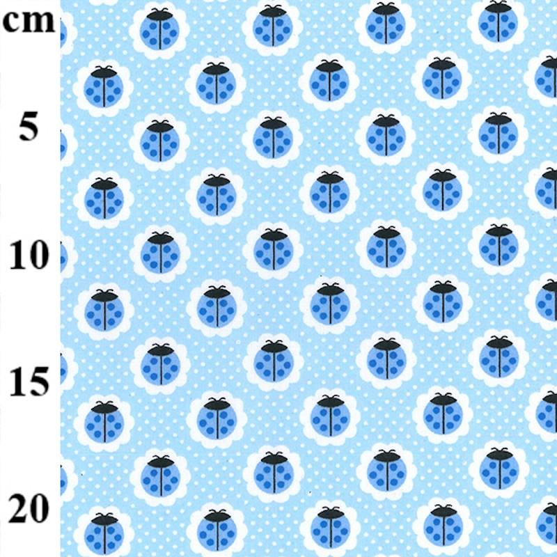 Polycotton Fabric Blue...