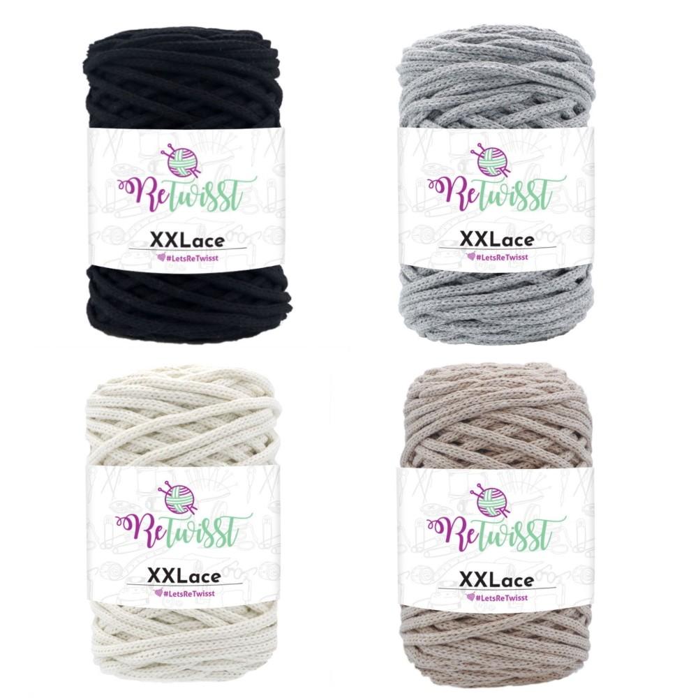 ReTwisst XXLace Macrame Recycled Cotton Craft Crochet Knitting Yarn Home Decor 250g RXL01