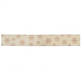 Eleganza Ribbon Wired Edge Christmas Snowflakes 63mm
