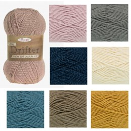 King Cole Subtle Drifter Chunky Yarn Knitting Crochet Acrylic Wool 100g