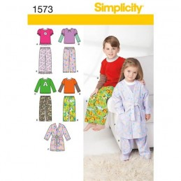 Toddlers' and Child's Loungewear Fabric Sewing Patterns 1573