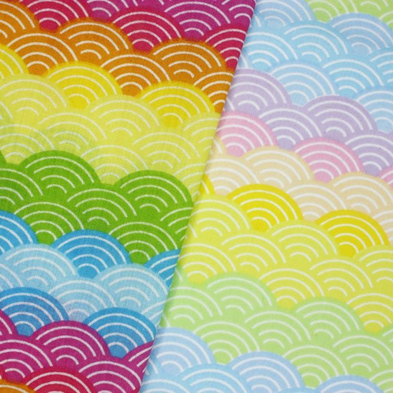 Polycotton Fabric Rainbow...