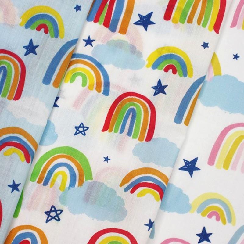 Polycotton Fabric Rainbows...