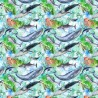 100% Cotton Digital Fabric Sealife Whale Sharks Dolphins Crafty 140cm Wide