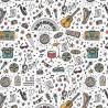 100% Cotton Digital Fabric School Music Musical Instruments 140cm Wide