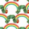 100% Cotton Fabric Makower Very Hungry Caterpillar Rainbows Lines Childrens Kids