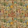 100% Cotton Digital Fabric Tarot Cards Reading Halloween 140cm Wide