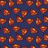 100% Cotton Fabric Camelot Fabrics DC Comics Superman Logo Superhero