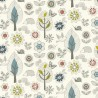 100% Cotton Fabric Nutex Enchanted Garden Floral Flowers Wildlife Woodland