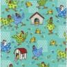 100% Cotton Fabric Nutex Farm Fun Chicken Coop Chaos Farmyard Birds Animals Hen