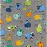 100% Cotton Fabric Nutex Farm Fun Funky Patterned Sheep Knitting Farm Animals