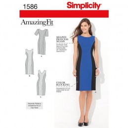 Misses' and Plus Size Amazing Fit Dress Fabric Sewing Pattern 1586