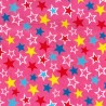 100% Cotton Poplin Fabric Rose & Hubble Colourful Starry Sky Party Time