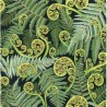 100% Cotton Fabric Nutex Koru Frond Palm Leaves Branches Floral Paisley Trees