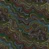 100% Cotton Fabric Nutex Mugungalyi Spotty Waves Aboriginal Dots Spots Australia