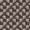 100% Cotton Digital Fabric Oh Sew Evil Skulls In Lines Halloween 140cm Wide