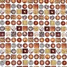 100% Cotton Fabric Benartex Luxury Chocolate Box Truffles Metallic Sweet Treats