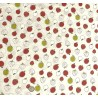 100% Cotton Fabric Nutex Country Lane Fruit Food Strawberry Apple