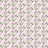 100% Cotton Digital Fabric Purple Ditsy Floral Flower Fern Garden 140cm Wide